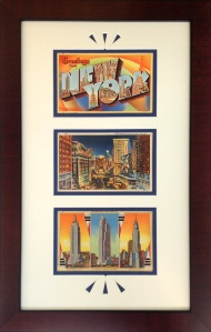 NYC Vintage Postcards Framed