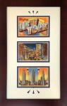 NYC Vintage Postcards Framed