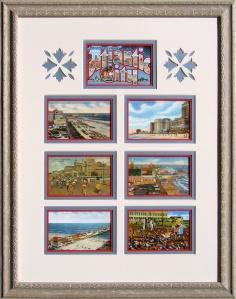 Atlantic City, NJ Framed Vintage Postcards Montage