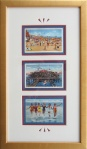 Atlantic City, NJ Framed Vintage Postcards Montage