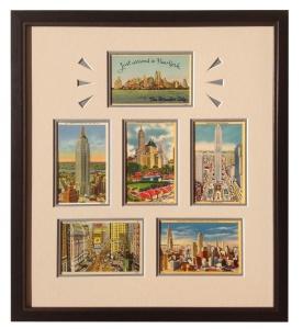 New York City Framed Vintage Postcards