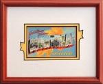 Vintage Postcard framed Montreal
