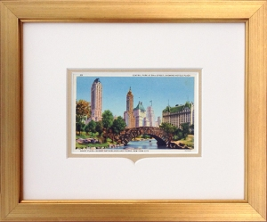 NYC Central Park Framed Postcard