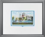 Philadelphia Parkway Fountain Vintage Postcard